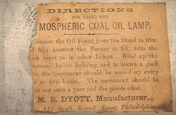 Label from Mechanical Lamp