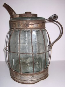 glass oil can